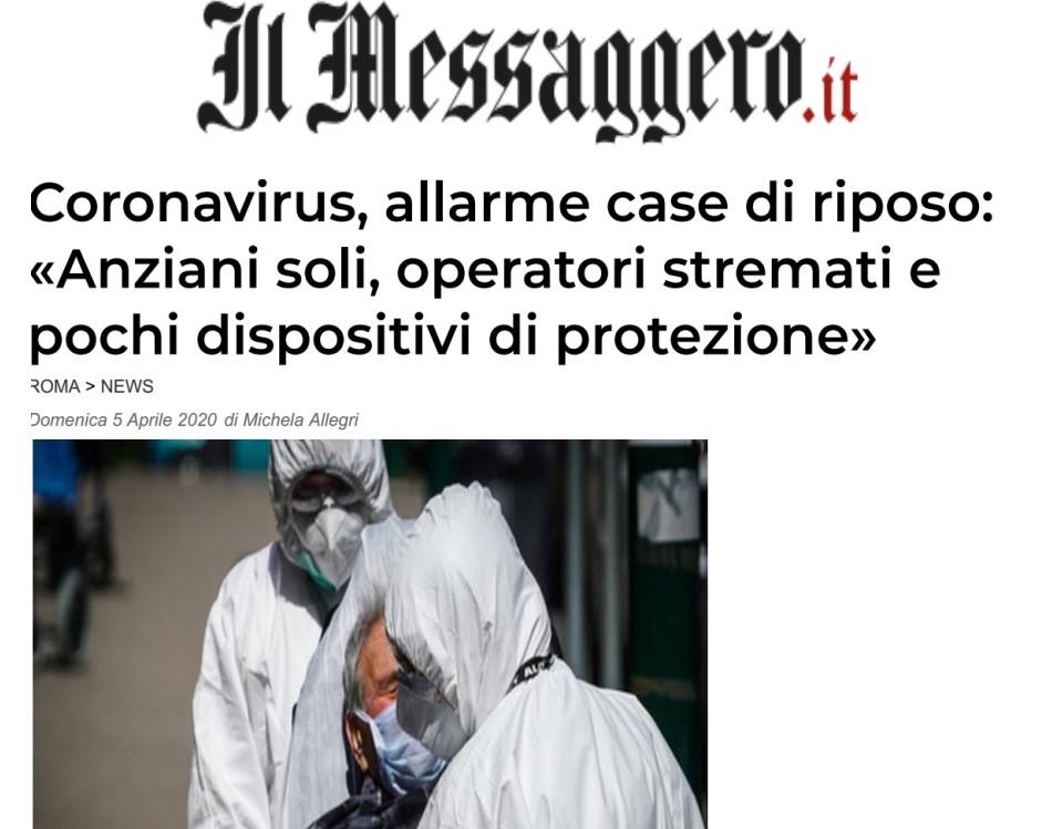 ALLARME CASE DI RIPOSO DELLA REGIONE LAZIO